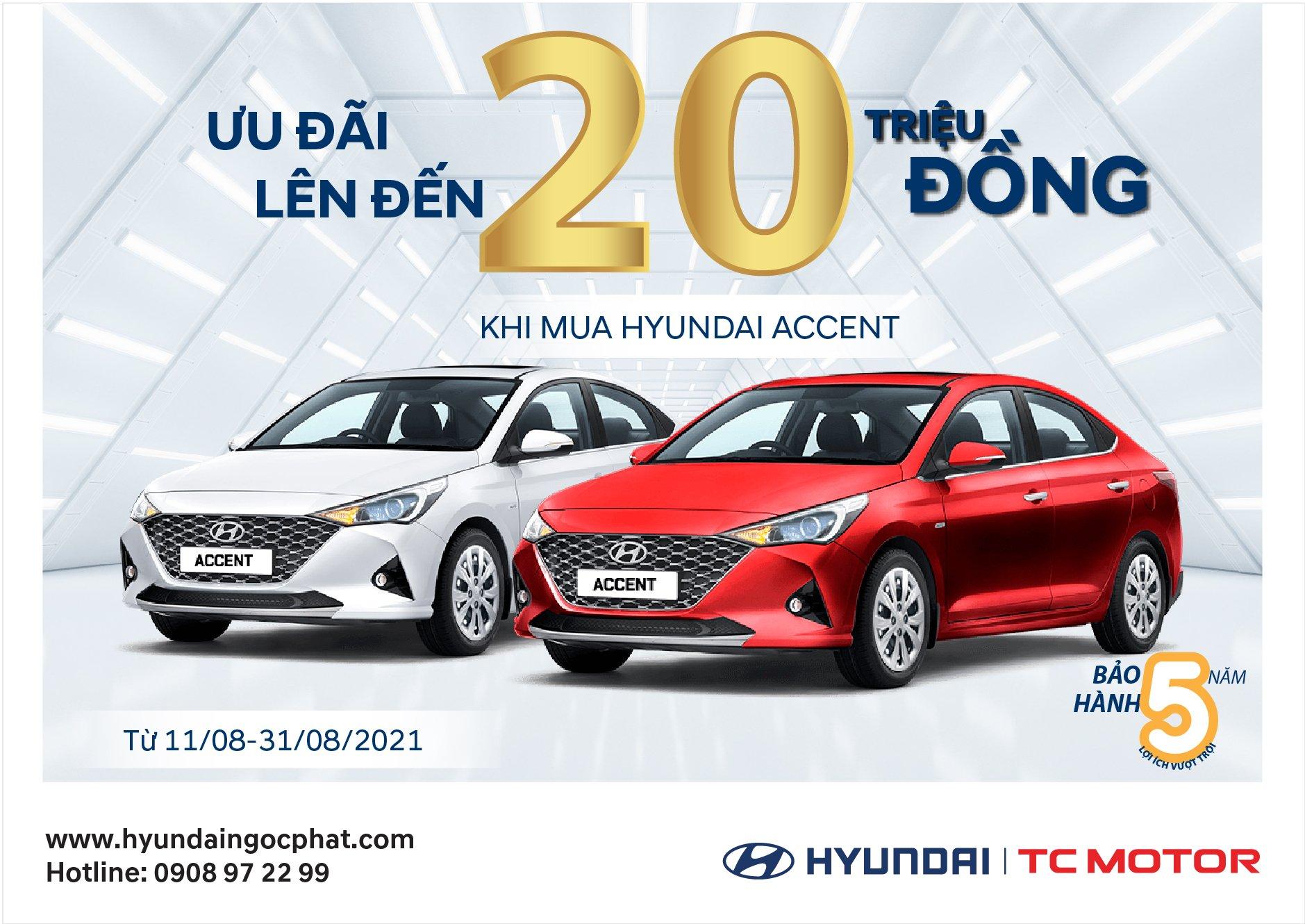 HYUNDAI ACCENT 2021 - mẫu Sedan được ưa chuộng nhất thị trường Việt Nam Ưu đãi giảm trực tiếp TIỀN MẶT lên đến 20 TRIỆU