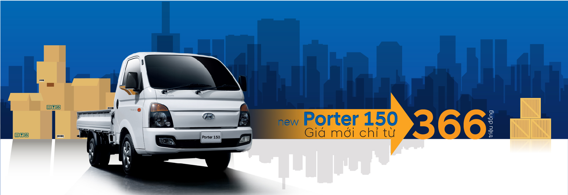 New Porter 150 - Giá mới chỉ từ 366 triệu đồng