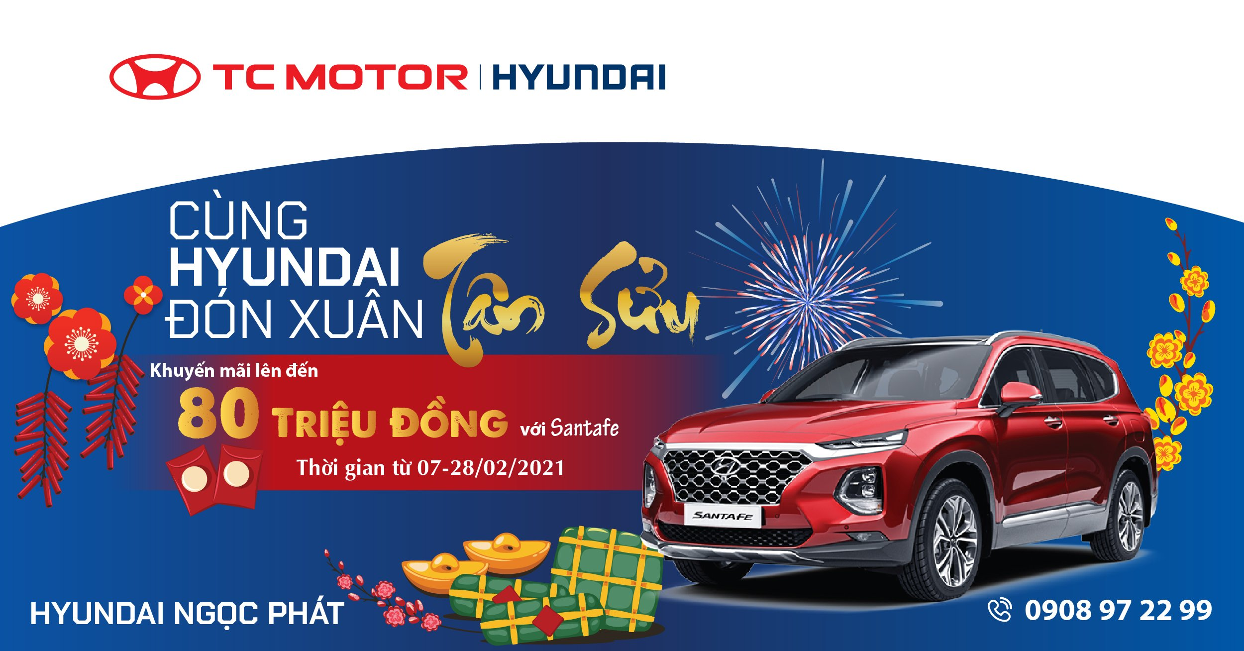 Khuyến mãi cùng Hyundai đón Xuân Tân Sửu